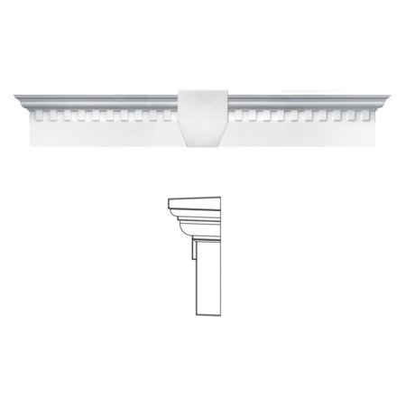 Builders Edge 6H In  Dentil Window Header With Keystone