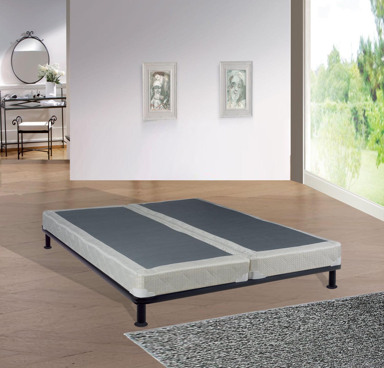 "Continental Sleep, 4"" Fully Assembled Semi Flex Split Box Spring/Foundation for Mattress, Twin Size"