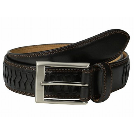 Cole Haan NEW Black Silver Whitefield Size 32 Men's Leather Dress Belt ()