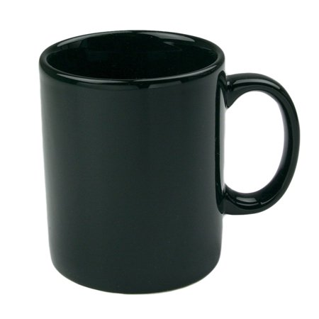 OmniWare Teaz Cafe Black Stoneware 11 Ounce Classic Coffee Mug, Set ...