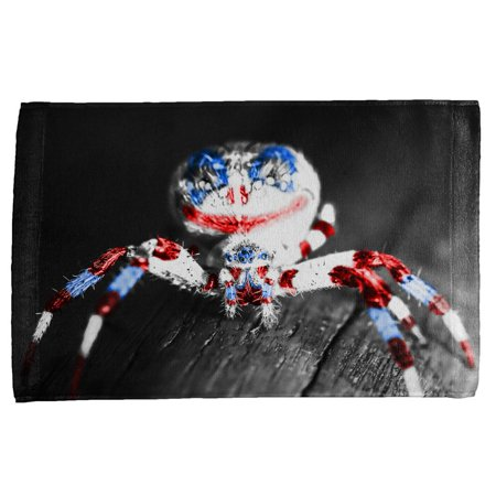 Patriotic Killer Clown Spider Of Halloween All Over Hand Towel - All Halloween Killers