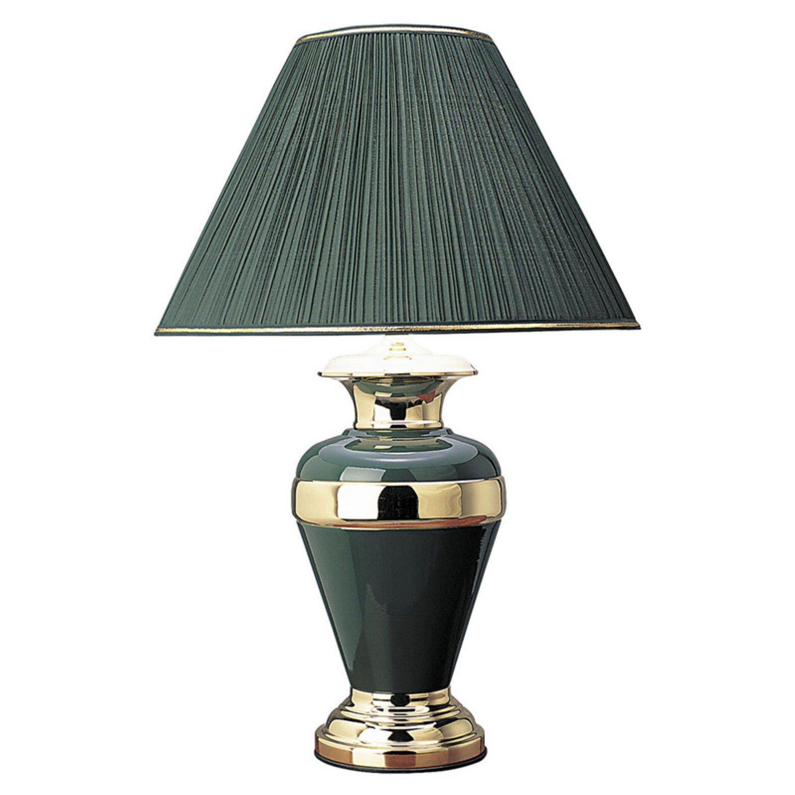 ORE International Metal Table Lamp, Hunter Green