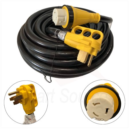 New 50 Foot 50A RV Extension Cord Adapter Shore Power NEMA 14-50P to SS2-50R