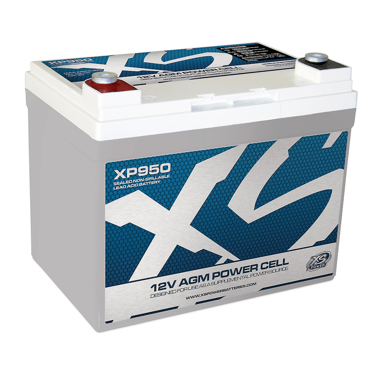 XS Power XP950 12 Volt AGM 950 Amp Power Cell Car Audio B...
