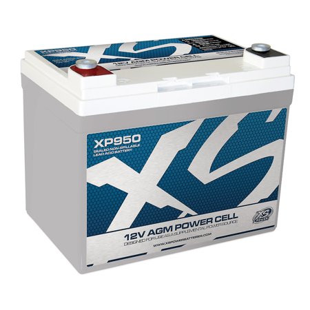 XS Power XP950 12 Volt AGM 950 Amp Power Cell Car Audio Battery with Hardware