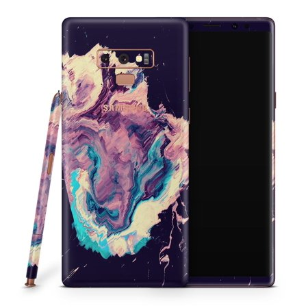 Liquid Abstract Paint Remix V18 - Design Skinz High-Quality Vinyl Decal Wrap Cover for Samsung Galaxy Note 9 (SPECIAL OFFER 2-PACK BUNDLE! Full-Body + Back