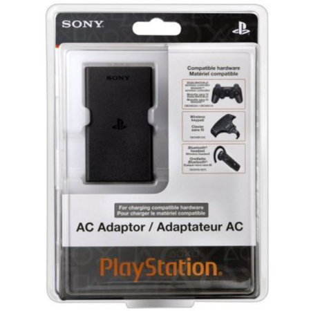 PlayStation 3 AC Adapter With this device, users can charge the DUALSHOCK?3 wireless controller, SIXAXIS? wireless controller, Bluetooth? headset and Wireless keypad without turning the PS3? system on. The AC Adaptor can also be used to charge the PSP? system (PSP-2000/3000 series) in USB mode.