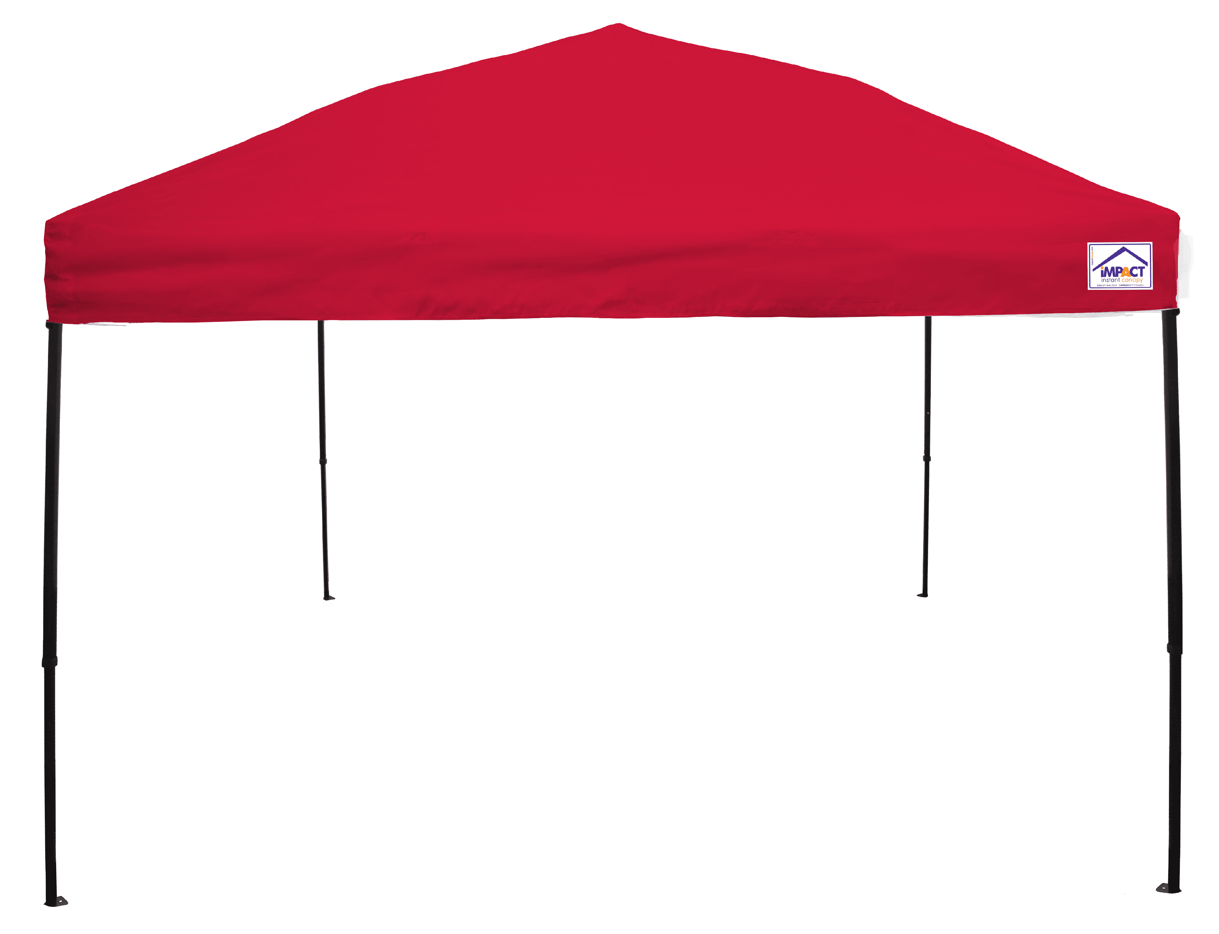 Head Way Gazebo Top Red 10 x 10 Instant Pop Up Canopy Tent by Impact Canopy