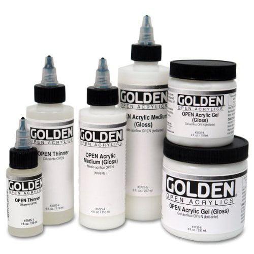 GOLDEN ARTIST COLORS 37257 OPEN 32OZ ACRYLIC MEDIUM GLOSS