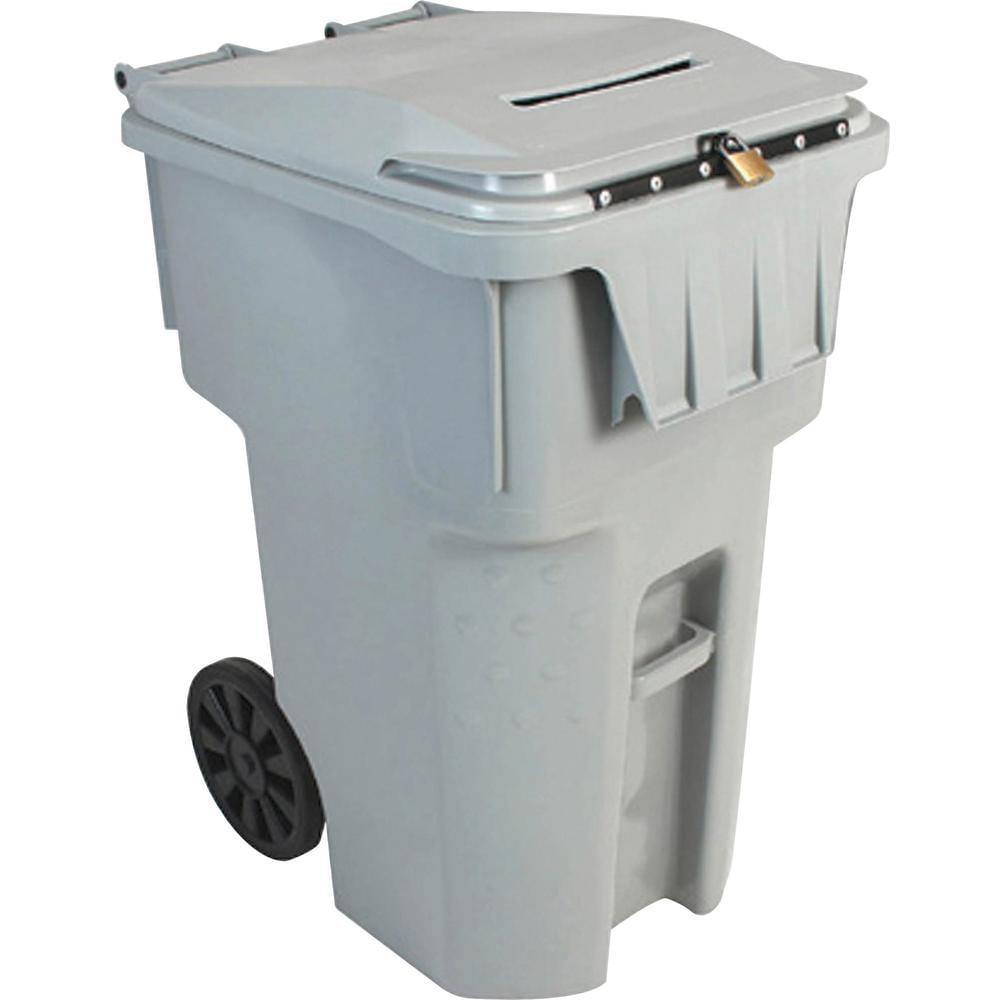 HSM 95 Gallon Shredder Bin - Light Gray