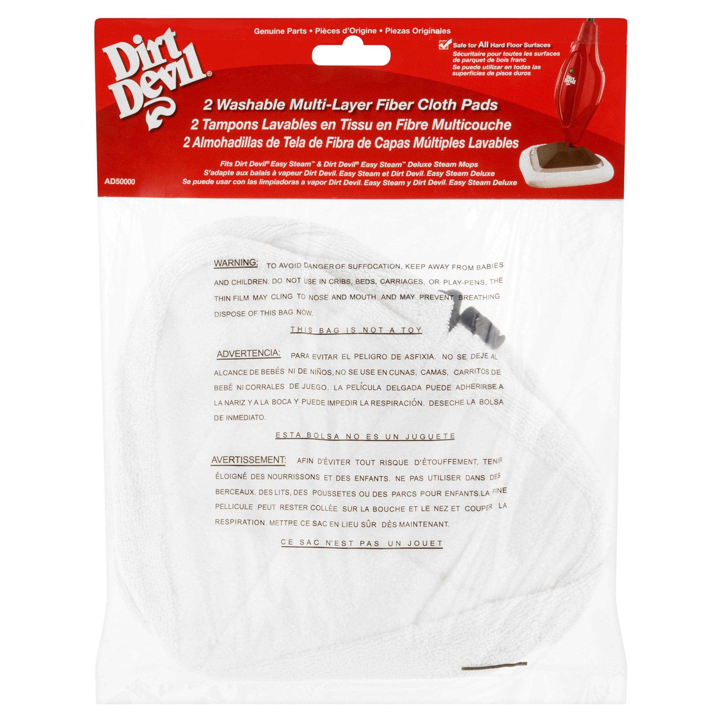 Dirt Devil Washable Multi-Layer Fiber Cloth Pads, 2 count