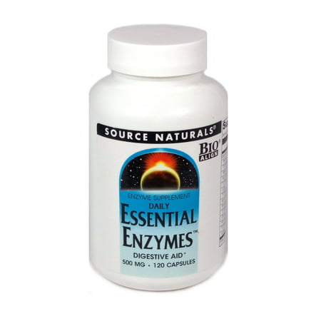 Source Naturals Daily Essential Enzymes 500 mg - 120 Capsules (Essential Enzymes 120 Caps)