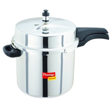 prestige deluxe stainless steel pressure cooker 10 liters. Black Bedroom Furniture Sets. Home Design Ideas