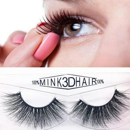 858 Natural - 1 Pair Luxury 3D False Lashes Fluffy Strip Eyelashes Long Natural Party