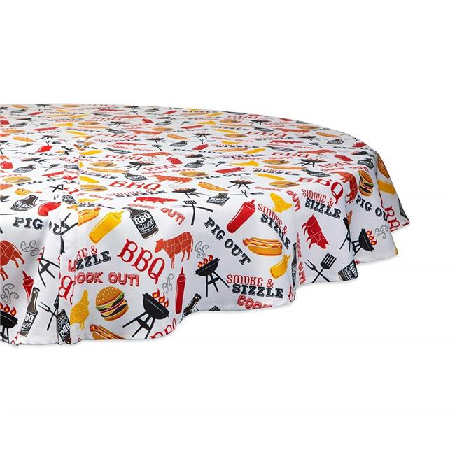 Exceptionnel BBQ Fun Print Outdoor Round Tablecloth With Zipper   Image ...