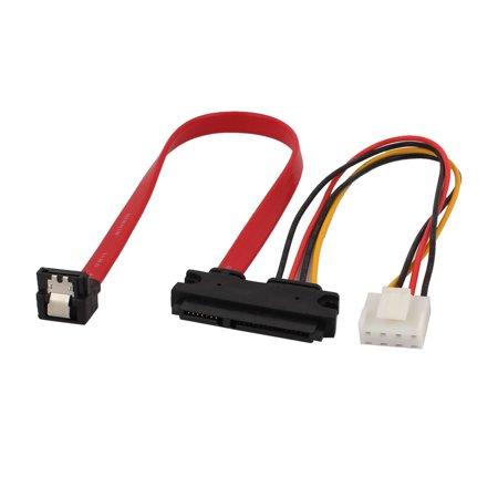 SATA 7+15P to SATA Data 7 Pin + XH2.54 4 Pin Adapter Y Splitter Power Cable