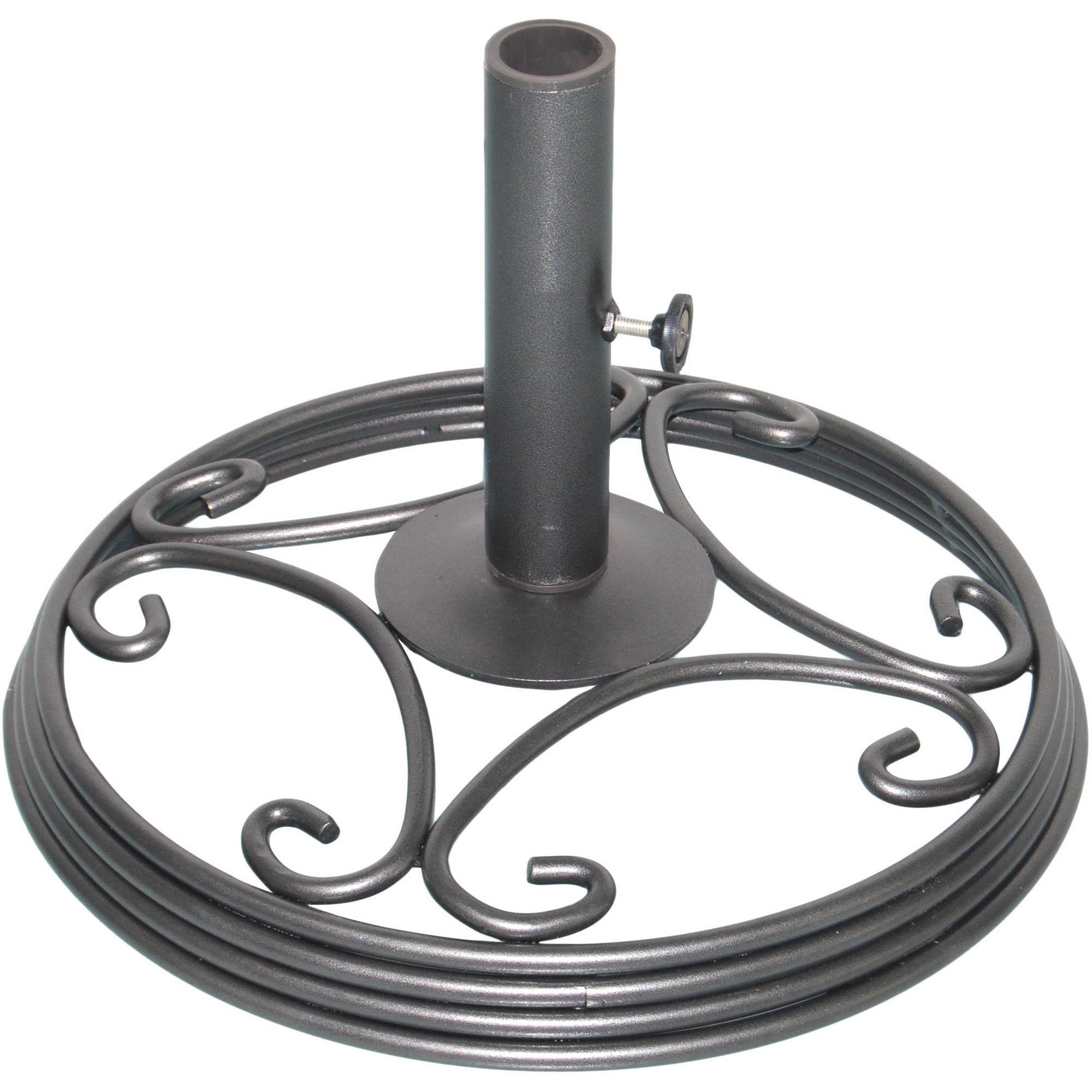 mainstays willow springs umbrella base black finish - Umbrella Base