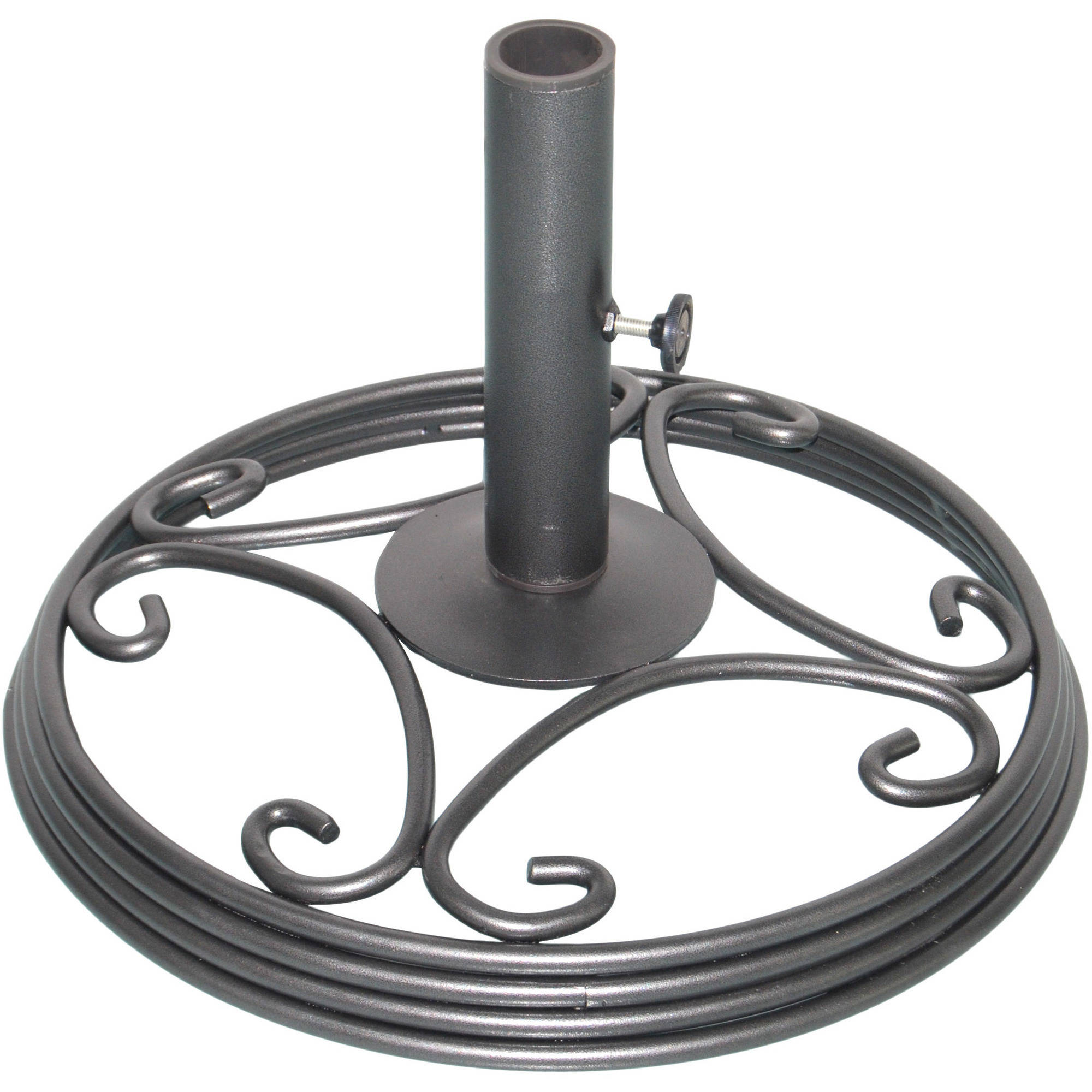 Mainstays Willow Springs Umbrella Base, Pewter Finish