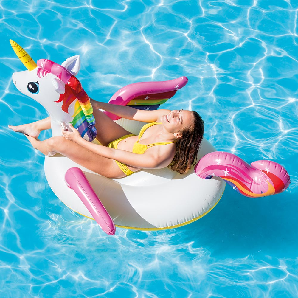 "Intex Unicorn Inflatable Ride-On Pool Float, 79"" X 55"" X 38"" by Intex"