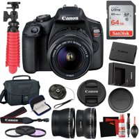 Canon EOS Rebel T7 DSLR Camera +18-55mm Lens and 64GB Memory Card, Carrying Case