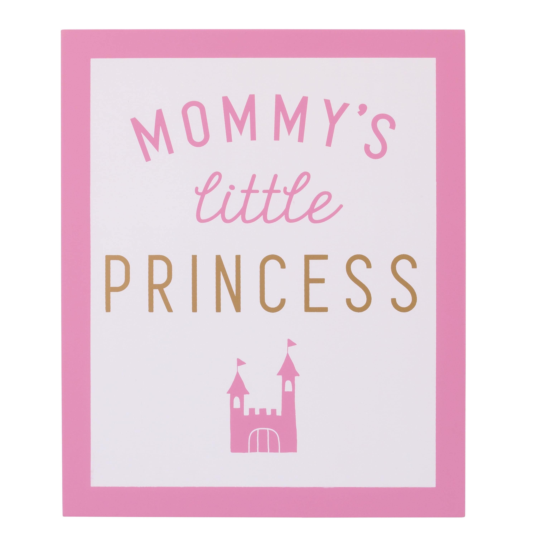 Child of Mine Princess Girl Wall Decor Art, Pink