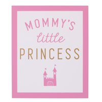 Child of Mine Princess Girl Wall Decor Art, Pink