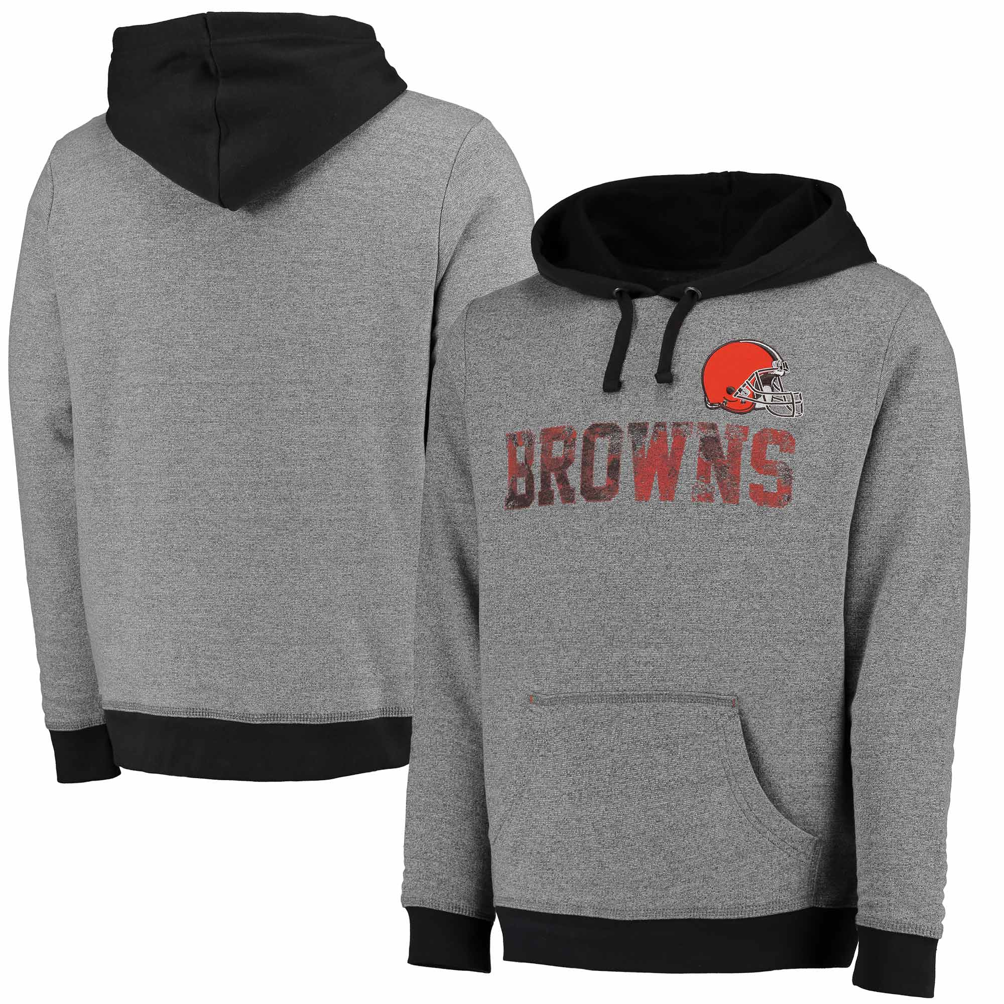Cleveland Browns Majestic Gameday Classic Pullover Hoodie - Heathered Charcoal