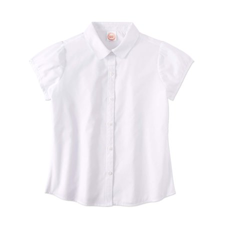Girls School Uniform Short Sleeve Poplin Blouse - School Clothes