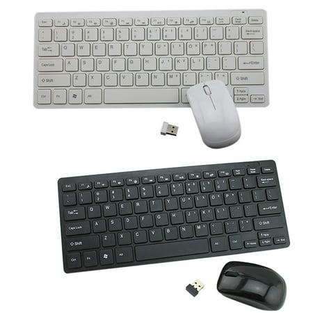 2.4G Mini Ergonomic Wireless USB Keyboard Mouse Set Office Entertainment Desktop Laptop Supplies - image 3 of 9