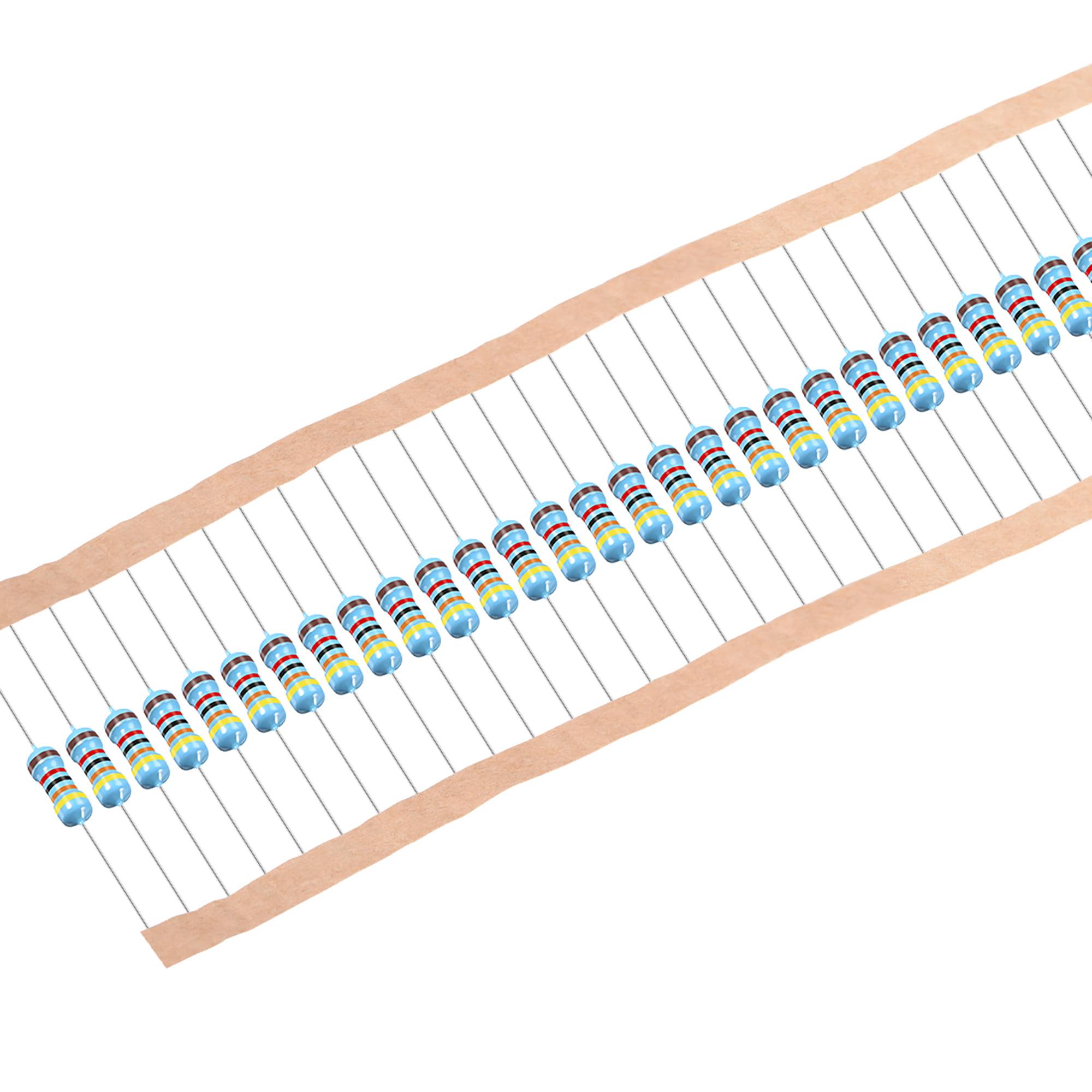 50 pcs Metal Film Resistors 43K Ohm 0.5W 1/2W 1% Tolerances 5 Color Bands - image 4 of 4