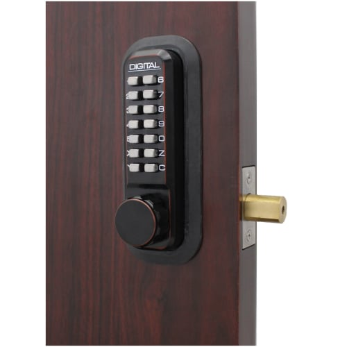 Lockey 2210 2000 Series Keyless Entry Single Combination Mechanical Knob Set with Interior Thumb Turn
