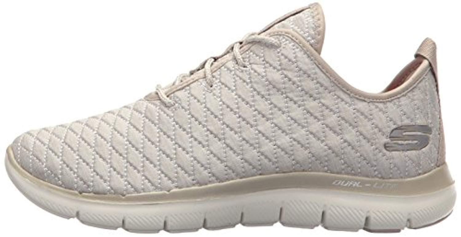 Skechers Sport Women's Flex Appeal M 2.0 First Impression Sneaker,Taupe,6.5 M Appeal US cc1a58