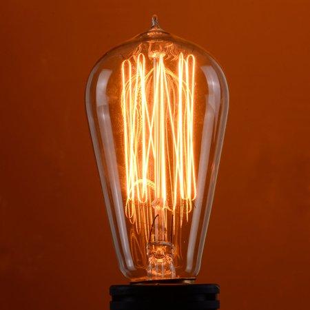 60w Edison Base Bulbs - Costway 4 Pack 110V 60W Light Bulb Squirrel Cage Filament E26 Base Vintage Retro Edison
