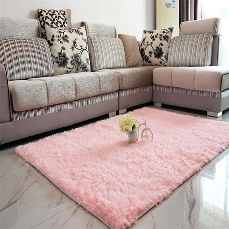 Modern Soft Fluffy Floor Rug Anti-skid Shag Shaggy Area Rug Bedroom Dining Room Carpet Yoga Mat Winter Child Play Mat