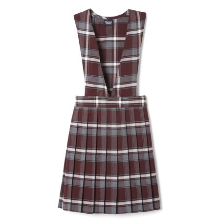 French Toast School Uniform Plaid V-Neck Pleated Jumper (Toddler