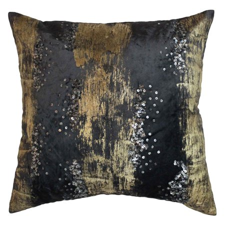 Cloud40 Design Raina Charcoal And Gold Decorative Pillow Walmart Best Grey And Gold Decorative Pillows