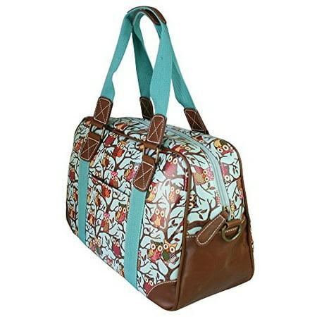 Miss Lulu Ladies Print Oilcloth Hand Shoulder Travel Overnight Weekend (Print Shoulder Bag)