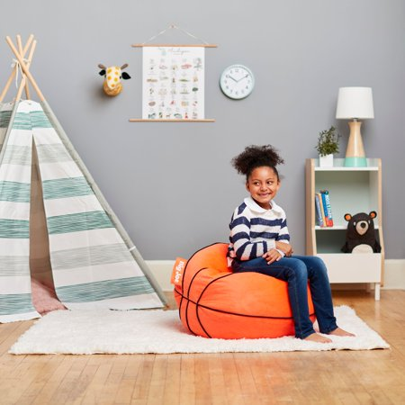 Superb Big Joe Plush Basketball Kids Bean Bag Chair Walmart Com Onthecornerstone Fun Painted Chair Ideas Images Onthecornerstoneorg