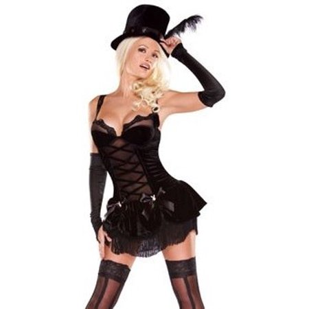 PLAYBOY Halloween Costume Sexy Burlesque Dancer Girl XS (sz - Burlesque Couples Costumes