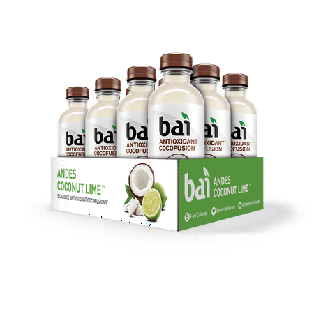 Bai CocoFusion Antioxidant Infused Beverage, Andes Coconut Lime, 18 Fl Oz, 12 Count