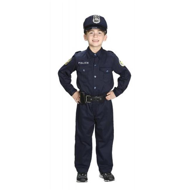 Aeromax PO-46 4 by 6 Jr. Police Officer Suit with Cap & Belt - image 1 de 1