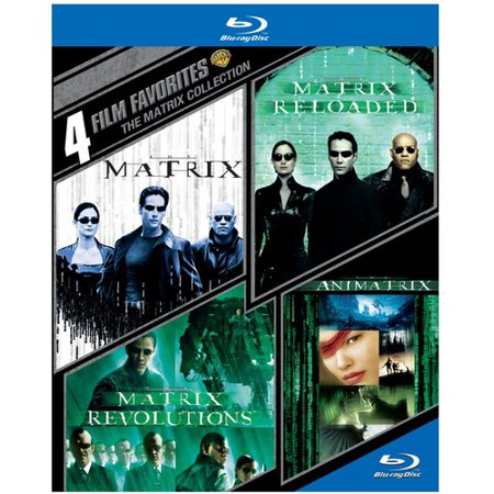 4 Film Favorites  The Matrix Collection   The Matrix   The Matrix Reloaded   The Matrix Revolutions   The Animatrix  Blu Ray   Widescreen