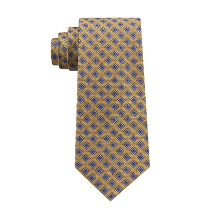 Club Room Mens Diamond Dot Self-tied Necktie yellow One Size - image 1 of 1