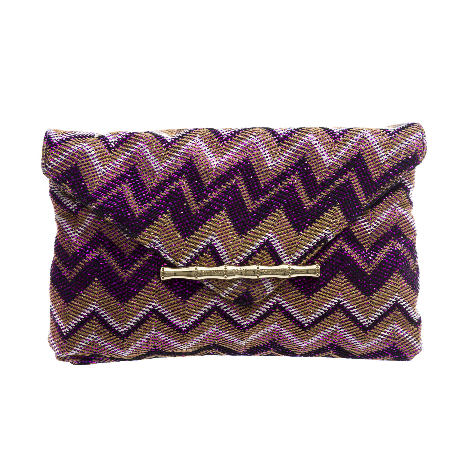 Elaine Turner Women's Zip Zag Bella Envelope Clutch Bag One Size Purple