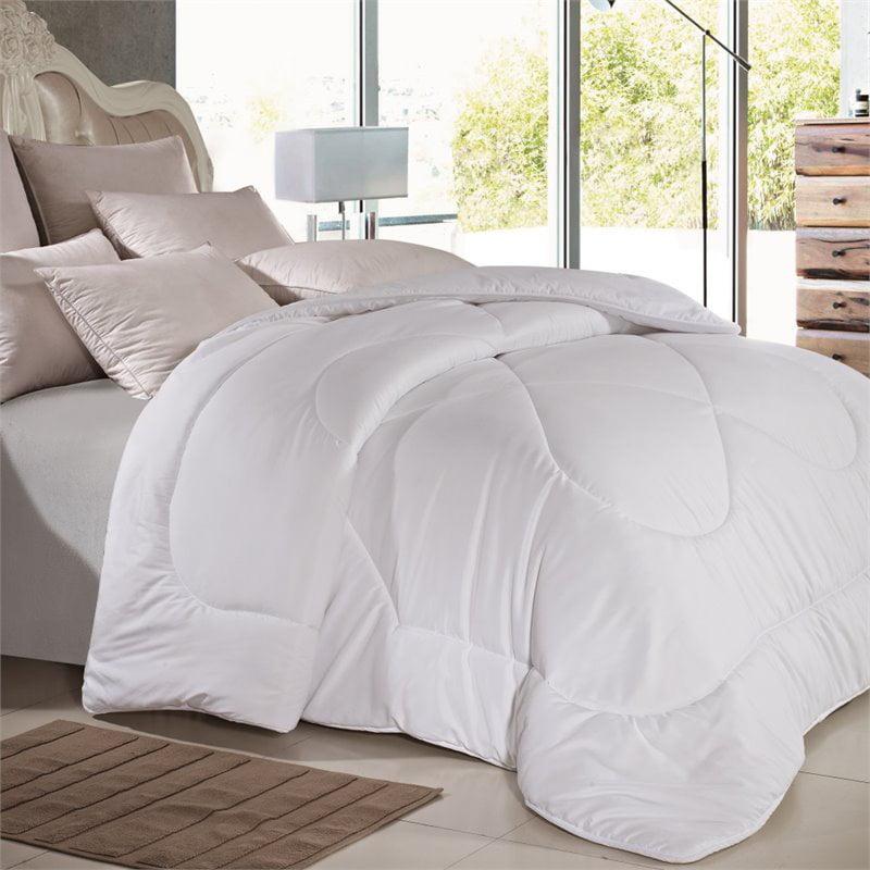 Versailles V-Luxe Duvet Microfiber King Comforter in White