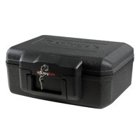 SentrySafe 0.18 Cubic Foot Key Lock UL Fire Protection Chest Safe with Handle