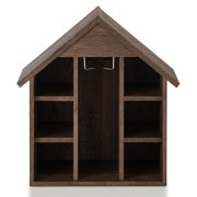 Furniture of America Bales Rustic Wooden Wine Rack in Reclaimed Oak