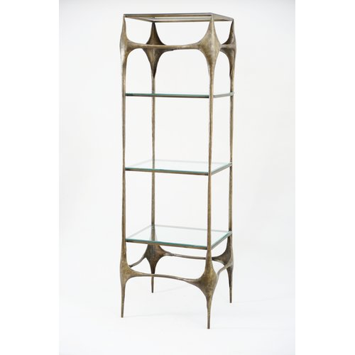 World Menagerie Dayana Iron Hammered 72.5'' Etagere by