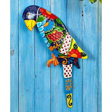 Parrot Tropical Metal Wall Art Sculpture Beach Theme Home Decor Accent