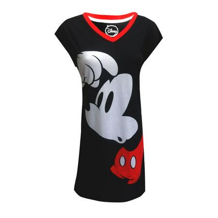 43d30c87faeda Webundies - Disney s Mickey Mouse Plus Size Cotton Night Shirt - Walmart.com